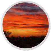 An Arizona Sky Round Beach Towel