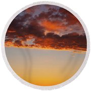 An Oklahoma Sunsrise Round Beach Towel