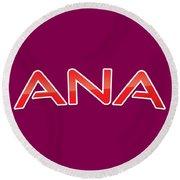 Ana Round Beach Towel
