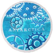 Ancient Antarctic Technology Round Beach Towel