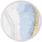 Anclote Keys To Crystal River Noaa Nautical Chart 11409 Round Beach Towel