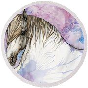 Andalusian Horse 2019 03 28 Round Beach Towel