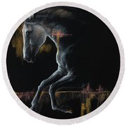 Andalusian Horse 2019 04 04 Round Beach Towel