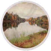 Androscoggin River, 13 Mile Woods Antiqued Round Beach Towel