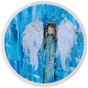 Angel Among Angels Round Beach Towel