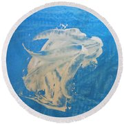 Angel And Dolphin Riding The Waves Round Beach Towel