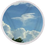 Angel Cloud Appears  Round Beach Towel