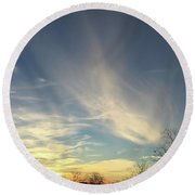 Angel Cloud Sunset Round Beach Towel