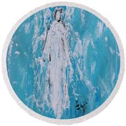Angel For Grievance Round Beach Towel