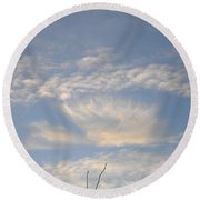 Angel In The Sky Round Beach Towel
