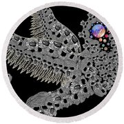 Angel Of Death Light With Worlds To Destroy Save Round Beach Towel