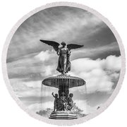 Angel Of The Waters Round Beach Towel