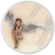 Angel Soft Round Beach Towel