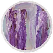Angels In Purple Round Beach Towel