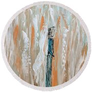 Angels In The Midst Of Every Day Life Round Beach Towel