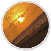 Angled Holden Beach Sunrise Round Beach Towel