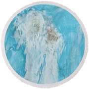 Angles Of Dreams Round Beach Towel