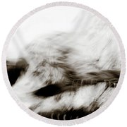 Angry Abstract Round Beach Towel