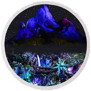 Animal Kingdom Dual Poster Work A Round Beach Towel