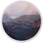 Round Beach Towel featuring the photograph Anisclo Canyon Sunset by Stephen Taylor