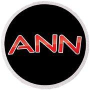 Ann Round Beach Towel