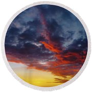 Another Colorful Sky Round Beach Towel
