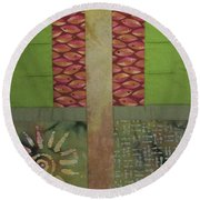 Another Fragment Of The Frontier Of Beauty Round Beach Towel