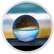Another Look Through The Lens Round Beach Towel