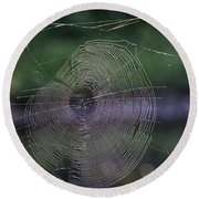 Another Web Round Beach Towel