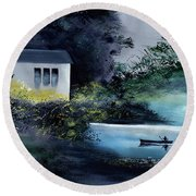 Another White House Round Beach Towel