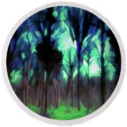 Another World - Forest Round Beach Towel
