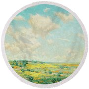 Antelope Valley Round Beach Towel
