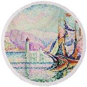 Antibes, Morning - Digital Remastered Edition Round Beach Towel