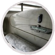Round Beach Towel featuring the photograph Antique Classic Car by Rick Veldman