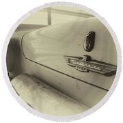 Round Beach Towel featuring the photograph Antique Classic Car Vintage Effect by Rick Veldman