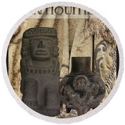 Antiquities Round Beach Towel
