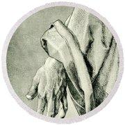Apostle Hand Round Beach Towel