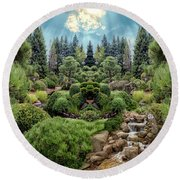 Round Beach Towel featuring the photograph Approaching Eden by Mike Braun