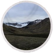 Arctic Mountain Landscape Round Beach Towel