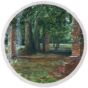 Ardoyne Ruins Near The Mansion, Houma, Louisiana Round Beach Towel