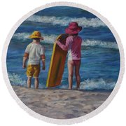 Are You Ready Round Beach Towel