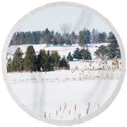 Ariss Golf Country Club Round Beach Towel