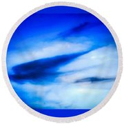 Round Beach Towel featuring the photograph Arizona Angel In Blue by Judy Kennedy