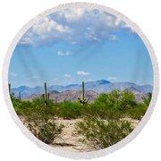 Arizona Desert Hidden Valley Round Beach Towel