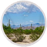 Arizona Desert Hidden Valley Round Beach Towel