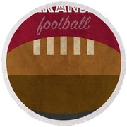 Arkansas College Football Team Vintage Retro Poster Round Beach Towel