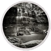 Rock Glen Falls Round Beach Towel