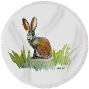 Arogs Rabbit Round Beach Towel