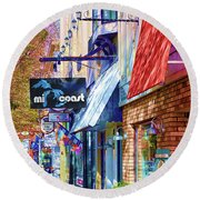 Art Coast Of Michigan Round Beach Towel