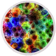 Art From Above Round Beach Towel